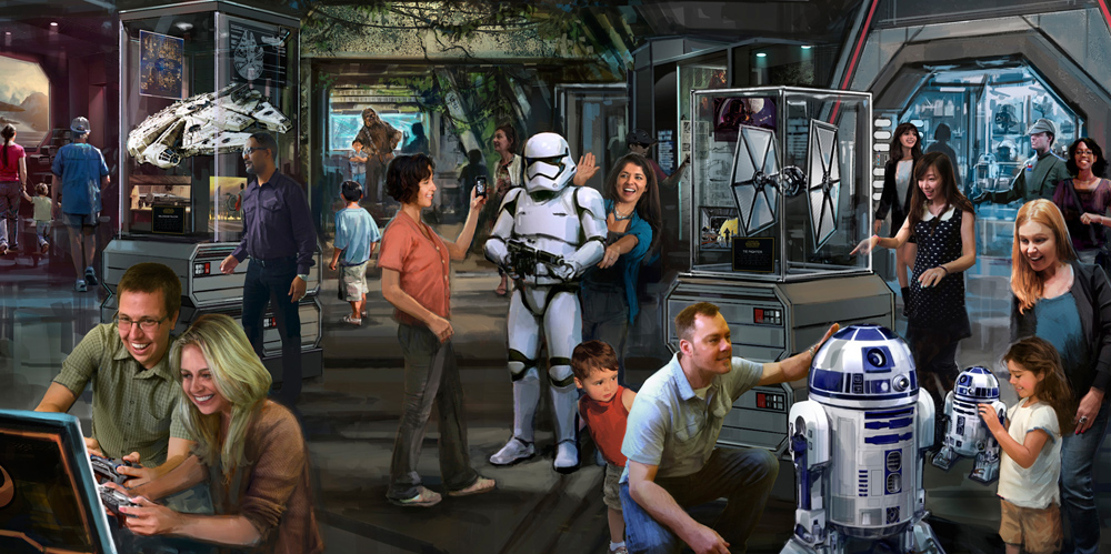 Star Wars Land at Disneyland
